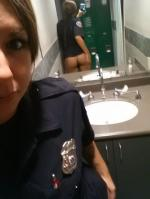 Bored at Work Police Woman