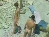 Voyeur Tapes Hubby Fucking His Wife On a Nudist Beach