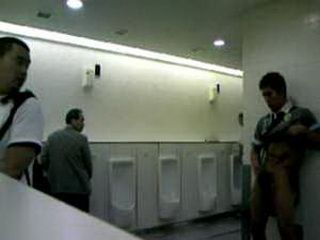 Guy Taped Self Jerking In Man Toilet
