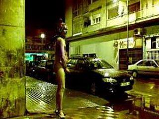 Turkish Transvestite Naked Masturbating In The Center Of The City