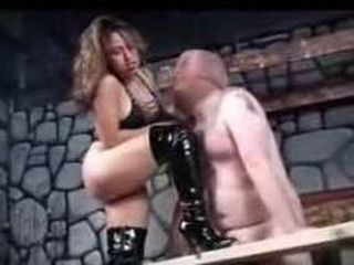 Mistress Destroying Slaves Balls And His Little Dick