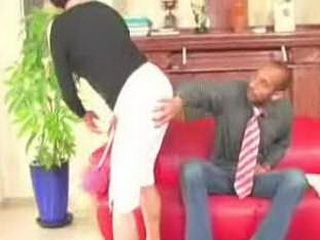 Nasty Man Grabbed Mature Maid For Ass