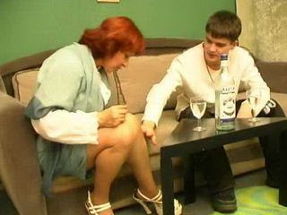 Redhead Mature Mom Easily Used Teen Russian Boy