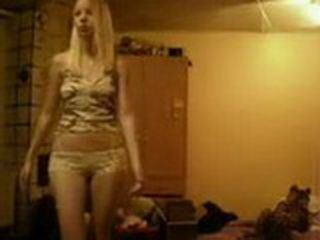 Blonde Teen Dancing Before Enjoy With Her Vibrator Friend