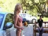 American Milf Teasing Strange Man In Car Wash Store