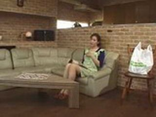 Japanese Lonely Mom Masturbate In Livingroom