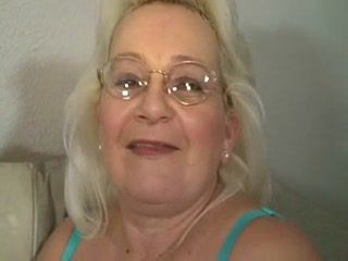 Blonde Granny Blowjob