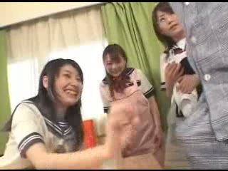 Three Asian Sisters Fucked By A Lucky Dude