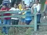 Crazy Latinoamericans Having Sex In The River While Rest Of The Village Looking