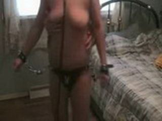 Tied Up Woman Treated Like A Dog Sucked Husbands Cock