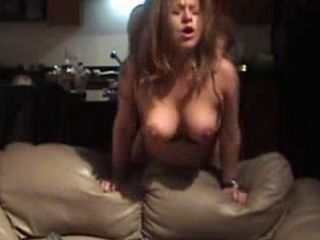 Amateur Babe Trashed From Behind While Her Natural Big Boobs Dance Like Balloons