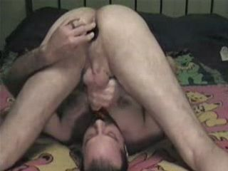 Lonely Guy Eat His Cum After Sucking Own Dick and Dildoing Own Ass