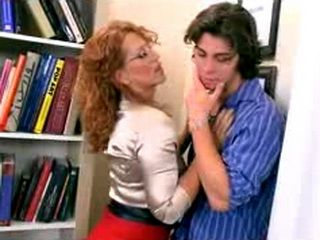 Mature Librarian Seduce Younger Guy In Her Office
