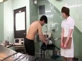 Japanese Doctor and Nurse Examine Patients Potency