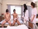 Japanese Doctor and Nurse Fucking Two Patients