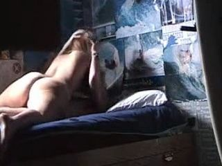 Amateur Girl Riding Boyfriends Shaved Cock In His Room