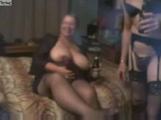 BBW Amateur Granny and her Kinky Husband In Lingerie