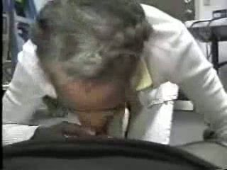 Black Granny Sucking Cock and Swallowing Cum