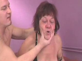 Teen Boy Forced Granny To Lick His Cum