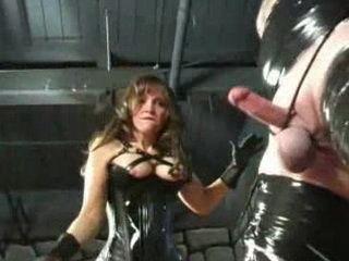 Mature Good Looking Femdom Hard Punishing Slaves Balls