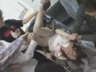 Nurse Gets  GangFucked By Lunatics at Hospital