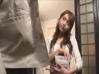 Japanese Lonely Girl Invited Strange Seller Into Her Home