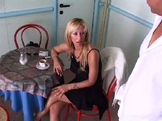 Mature Lady Gets Anal Fucked By Waiter at Restaurant