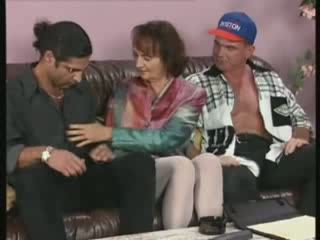 Home Orgy Between Mature Guys And Three Granny