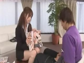 Japanese Lady Boss Try To Explain To Her Employer Sex Rules On The Job