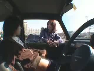 Japanese Flashing Handjob