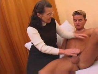 Granny Fucked Blonde Teen Boy