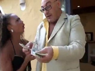 Pair of Sluts Fuck a Midget and an Old Guy Hardcore For Money