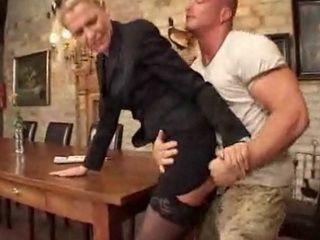 Slim MILF Gets Her Ass Eaten and Fucked For Dinner