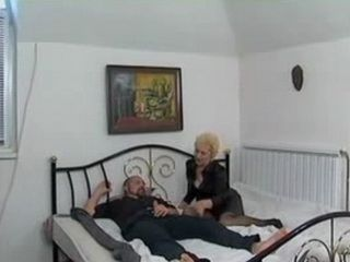 Granny fucks Younger Man Who Masturbated In Her Bedroom