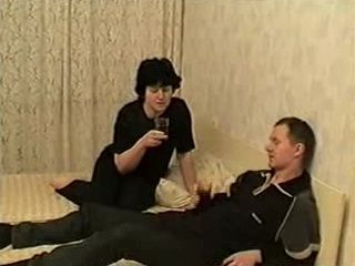 Russian Mature Mom In Black Fucks With Sons Friend
