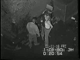 Real Security Cam Tape Of  Girl Fucked In An Alley