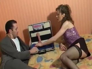 Dildo Salesmen Demos Product and His Penis In Her Pussy