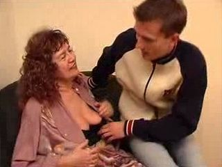 Stepdaughters Son Checked Grannies Bra
