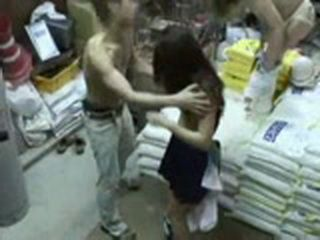 Girlfriend Rough Gangbang in Warehouse