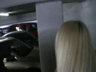 Blond Sucking Dick in Carpark