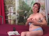 Lonely Granny Masturbates Until Younger Man Came In