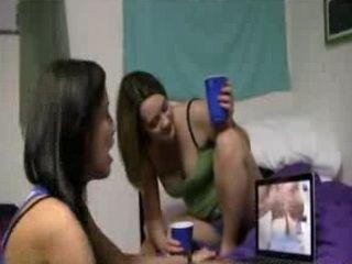 College Girl Sucks on Bf Dick in Dorm