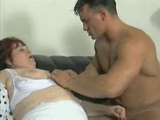Young Man Grabbed and Fucked Mature Mom On Couch