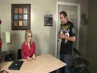 Mature Blonde Director Fucks with a Young Employer in her Office