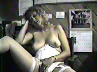 Retro Milf Doing Her Self at Work