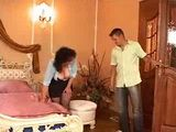 German Maid Is Fucked by Two Younger Guys in Hotel Room