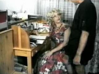 Beautiful Mature is Fucked by a Younger Man in Office