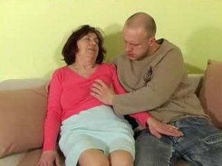 60y Old Granny Likes Young Cock