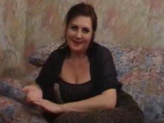 Russian Fatty Mature Lady Fucked After Masturbation