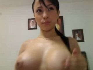 Hot Busty Asian shows off on her Webcam